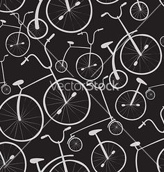 Seamless bicycles pattern bikes use for pattern vector by Inoka on VectorStock®
