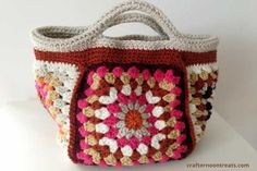 Free Tutorial: Small Project Bag: TaDah And How To. Pattern Downloads In US And UK Terms. http://crafternoontreats.com/small-project-bag-tadah-and-how-to/