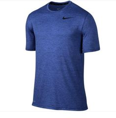 Nike Mens Dry Ultra Lightweight Blue Short Sleeve Training Shirt L 742228-455 #Nike #ShirtsTops