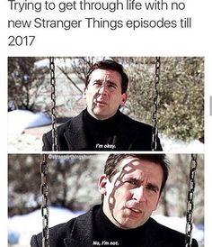 Okay it's bad that I'm relating to these Stranger Things/Michael Scott memes Stranger Things, Should I Stay, Dying Inside, Don T Lie, Michael Scott, Hilarious, Funny, Best Tv, Season 3