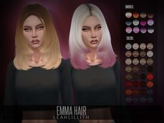 Emma Hair Found in TSR Category 'Sims 4 Female Hairstyles'