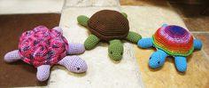 Amazing little crochet turtles