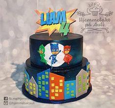 Hjemmebakt på Auli (@hjemmebaktauli) • Pysj-heltene kake til Liam sin bursdagen ✊ Birthday Cake, Cupcakes, Desserts, Food, Design, Personalised Cakes, Birthday Cakes, Postres, Cupcake