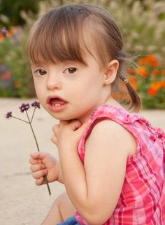 Down Syndrome - so sweet! When I try to picture Amelia, this is how I think she would look <3