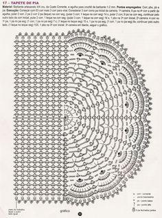 Crochet a stunning oval shaped bathmat for your bathroom. Crochet Diagram, Crochet Chart, Crochet Motif, Crochet Doilies, Crochet Stitches, Crochet Patterns, Free Crochet Bag, Crochet Lace, Crochet Handbags