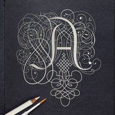 letter A inspired by the penmanship of jan van de velde Typography Letters, Typography Logo, Graphic Design Typography, Lettering Design, Calligraphy Types, Calligraphy Drawing, Calligraphy Letters, Inspiration Typographie, Typography Inspiration
