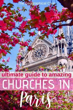 Guide To 15 Must See Beautiful Churches In Paris Backpacking Europe, Europe Travel Tips, Travel Destinations, European Destination, European Travel, Paris Travel, France Travel, Europe Bucket List, Visit France