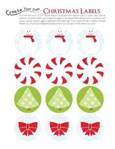 Party Ideas by Mardi Gras Outlet: Free Printable Christmas Labels print on this full sheet label http://www.onlinelabels.com/ol713.htm