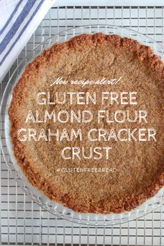 Almond Flour Graham Cracker Crust: Gluten Free and Low Carb – Gluten-Free-Bread The BEST Almond Flour Graham Cracker Crust that's also gluten free and low carb! Use it for any pie – even freeze some to keep on hand whenever the mood for pie strikes! Patisserie Sans Gluten, Dessert Sans Gluten, Bon Dessert, Gluten Free Sweets, Gluten Free Cooking, Almond Flour Recipes, Gf Recipes, Dairy Free Recipes, Gluten Free Pie Crust Recipe Almond Flour