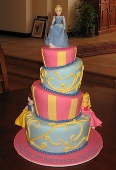 Let Them Eat Cake: Four Tiered Disney Princess Cake