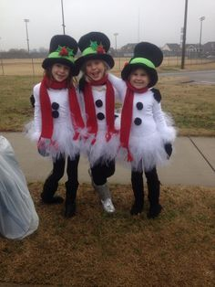 some of my Girl Scouts in their Christmas Parade costumes. Snow Scouts!