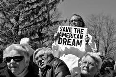 This picture is saying save the American Dream because the American dream is almost impossible to achieve because of all the obstacles you have to go through