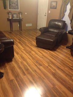 Just look at the combination of this PERGO Max Chocolate Oak     My favorite color   alternative to actual hardwood flooring