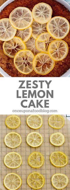 A fresh and zesty lemon cake that will have people coming back for seconds. #lemoncake #baking #springbaking #summerbaking #springcake #summercake #mothersdaycake #easycake #lemondrizzlecake #easylemoncake #moistlemoncake #lemondessert #onceuponafoodblog