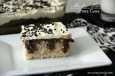 Mocha Latte Poke Cake (It's gluten free, dairy free, and vegan.best of all it tastes amazing) Gluten Free Sweets, Gluten Free Cakes, Gluten Free Baking, Dairy Free Recipes, Vegan Recipes, Poke Cake Recipes, Poke Cakes, Cupcake Cakes, Dessert Recipes