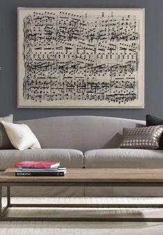 Framed music notes.