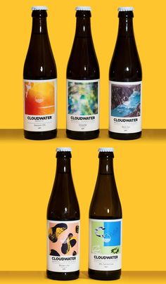 Cloudwater beer label design I like the fact that cloudwater have invented their own style. Featuring abstract style art, its almost Andy Warhol on a bottle.