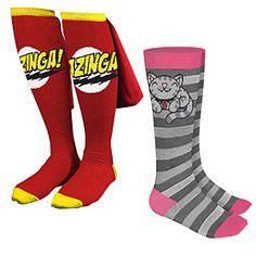 mwahahaha! bazinga! and soft kitty socks