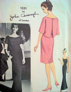 1960s JOHN CAVANAGH Elegant Evening Gown With Button Back Jacket Pattern Stunning Design VOGUE COUTURIER 1331 Vintage Sewing Pattern Bust 32