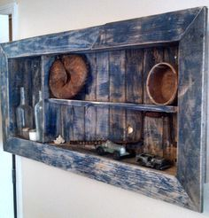 shadow box made from old pallets.