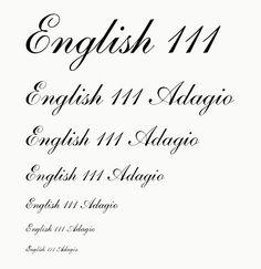 English 111 Adagio - Close match to Agent provocateur logo font
