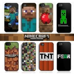 Check out these Minecraft iPhone cases! Minecraft iPhone 6, iPhone 6 Plus, iPhone 5S, iPhone 4s, iPhone 5C Case
