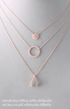 Swarovski Rose Gold Wishbone Necklace Sterling Silver - kellinsilver.com