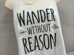 Wander Without Reason Racerback Tank