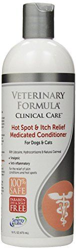 SynergyLabs Veterinary Formula Clinical Care Hot Spot  Itch Relief Medicated Conditioner for Dogs and Cats 16 fl oz by SynergyLabs * Read more reviews of the product by visiting the link on the image.