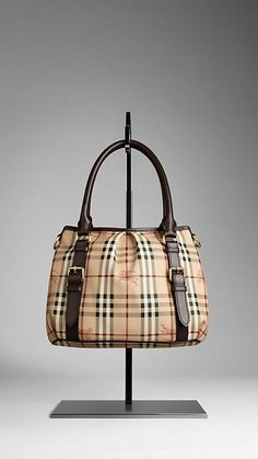 eb04029af802 Burberry SMALL HAYMARKET CHECK TOTE BAG Burberry Purse