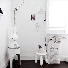 Home accessory: lamp, miffy, hipster, all white everything, home ...