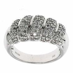 1.00 Cttw IGL Certified Round Diamond Cocktail Ring Band 14K White Gold Pave Set #Cocktail #IGL #Certified #Diamonds #Ring #Band#14K #White #Gold #Holiday #Sale #Gift