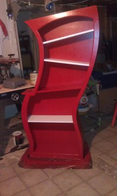 Dr Seuss Themed Bookshelf by JFhomemadefurniture on Etsy...this is AMAZING!!!!  Play room or home library