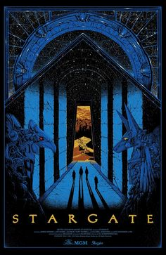Sale info for Stargate by Kilian Eng On Wednesday December we're releasing a brand new officially licensed screenprint movie poster, showcasing artwork by Kilian Eng. For some time now we wanted to work on a screenprint with Kilian and Stargate was d Best Movie Posters, Cinema Posters, Fantasy Movies, Sci Fi Fantasy, Skyfall, Stargate Movie, Stargate Ships, Kilian Eng, Cultura Nerd