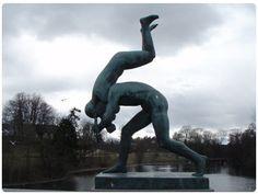 Vigleland Park Oslo Norway