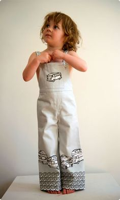 VW Traffic Dungarees Kit Sewing Clothing by Clothkits.