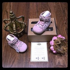 UGG's Australia infant ROLDAN shoes Brand new with tag in box w authenticity paper. Super super adorable infant baby pink cheetah UGG's shoes w Velcro strap high tops. Perfect Christmas gift fits infant 2-3   Baby 6-12 months.   price is firm UGG Other