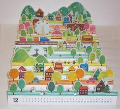 бумажный город бумага календарь полоски месяцы улица CREATIVE CALENDAR DESIGN IDEA