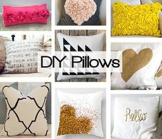 Create your own accent pillow with one of these easy DIY pillows. LOVE the glitter heart Do It Yourself Furniture, Do It Yourself Home, Diy Furniture, Diy Projects To Try, Craft Projects, Sewing Projects, Backyard Projects, Home Crafts, Diy And Crafts