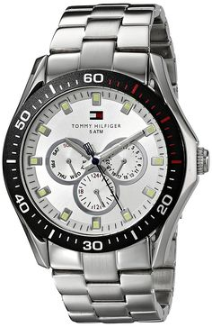 Tommy Hilfiger Men's 1790606 Multi-Function Stainless Steel Bracelet Watch ** You can find out more details at the link of the image. Tommy Hilfiger Watches, Stainless Steel Bracelet, Omega Watch, Bracelet Watch, Bracelets, Accessories, Wrist Watches, Image Link, Watches