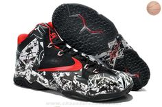 classic fit 7107b 91199 Graffiti - Air LeBron 11 White University Red and Black New Release NBA  Nike Basketball Shoes