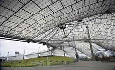 IN MUNICH: Architect Otto Frei's Olympic Stadium sits under a mesh-like canopy || Image Source: http://ic.pics.livejournal.com/jonathanbungela/74658352/293/293_600.jpg