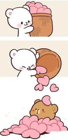 Cute Cartoon Images, Cute Love Cartoons, Cute Cartoon Wallpapers, Cute Images, Cute Bear Drawings, Cute Little Drawings, Cute Kawaii Drawings, Cute Love Pictures, Cute Love Gif