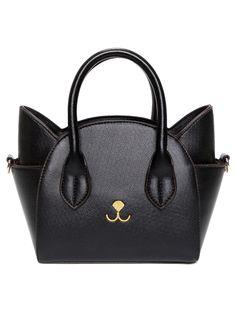Cat Shape Solid Color Tote Bag - BLACK Black Tote Bag 107fe86f05f6f