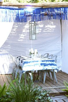 Real Jewish Celebrations: A White and Blue Sukkah | Chai & Home