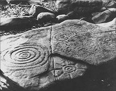 Alaska spirial petroglyph