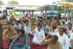 रोडवेज कर्मचारियों ने किया प्रदर्शन   Punjab Kesari