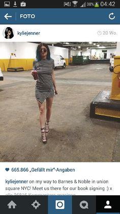 Kylie jenner black white dress
