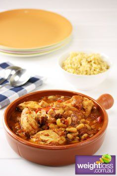 Healthy Dinner Recipes: Slow Cooker Chicken and Chorizo. #HealthyRecipes #DietRecipes #WeightLoss #WeightlossRecipes weightloss.com.au