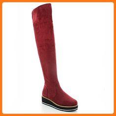 Ideal Shoes, Damen Stiefel & Stiefeletten , rot - rot - Größe: 37